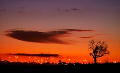goodbye cloud (ssj_george) Tags: road camera leica city sky orange cloud lake black tree silhouette night clouds lens lumix lights moving airport purple nightshot salt cyprus panasonic saltlake dmc larnaca larnaka superzoom  georgestavrinos   fz35 ssjgeorge