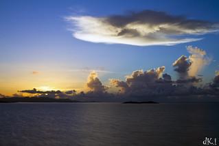 sunrise over St Thomas