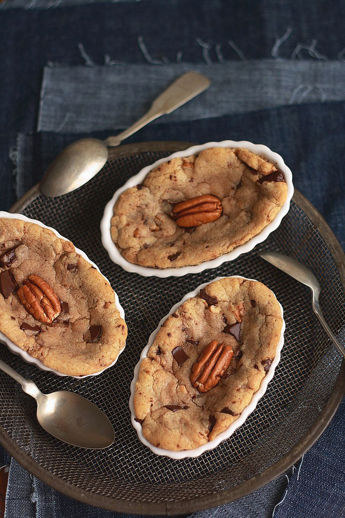 Browned Butter Chocolate Pecan Pizzookie