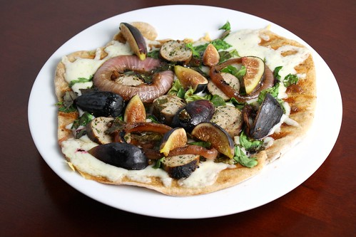 Grilled Sausage and Fig Pizza