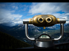 Banff Gondola *Explore* (Timothy TL) Tags: blue mountain lake snow canada mountains green nature clouds canon natural deck observatory alberta banff gondola canmore 1740mm banffnationalpark banffgondola f4l f40l