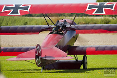 G-FOKK - 477 17 - PFA 238-14253 - Private - Fokker DR-1 TriPlane Replica - Little Gransden - 100829 - Steven Gray - IMG_4049