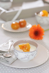 Mousse chocolat blanc (sylvieaa) Tags: orange fruit fte mousse grandmarnier confit clmentine chocolatblanc