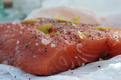 Seasoning salmon