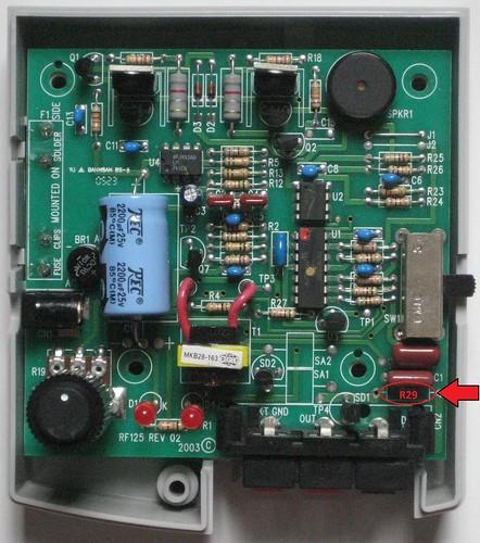 PetSafe RF-125 Transmitter Repair - active-low on