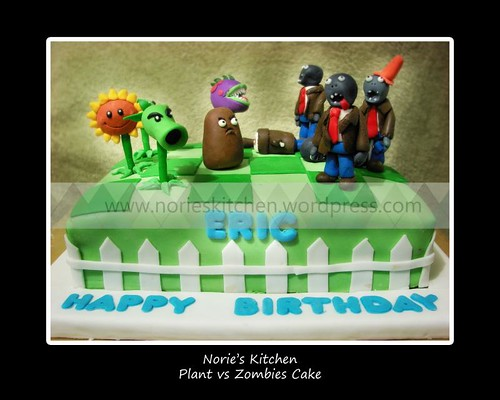 Norie's Kitchen - Plants vs Zombies Cake