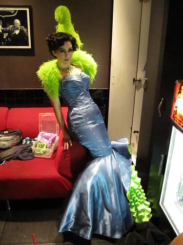 Miss Indigo Blue  Backstage at the New York Burlesque Festival 2010