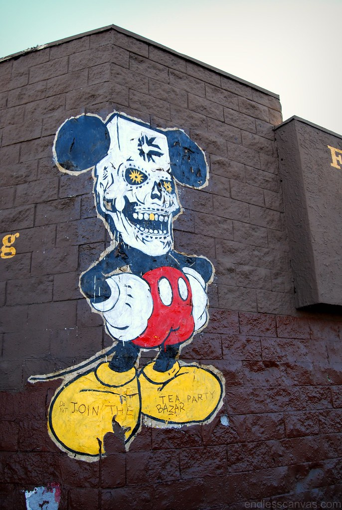Evil Disney Mickey Mouse Wheatpaste.