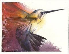Kolibri (Jennifer Kraska) Tags: art watercolor painting hummingbird jennifer kraska kolibri jenniferkraska