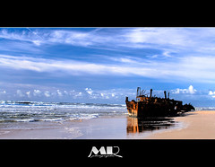 No Strength (Marceau R) Tags: ocean blue beach water photography boat photographie australia bateau fraserisland canon500d epave rebelt1i