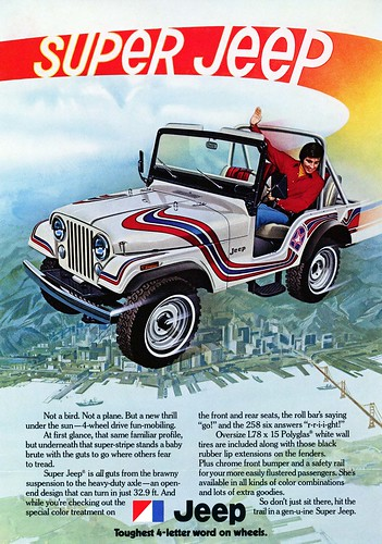 1973 Super Jeep Advertisement by lee.ekstrom