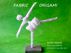 FABRIC ORIGAMI-BALLET DANCER (PICARUELO) Tags: