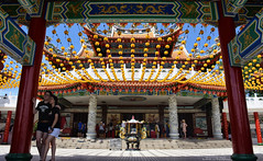 Thean Hou Temple : Inside view (Br@jeshKr) Tags: theanhoutemple lantern buddhism taoism confucianism kualalumpur malaysia temple pagoda brajeshart colour architecture chinesearchitecture