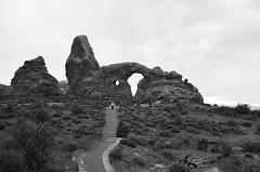 Turret Arch (Déborah Pierson) Tags: usa utah archesnp turretarch blackwhite alone