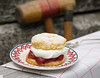 strawberry shortcake (petermatthews1) Tags: foodprops photography foodstyling foodphotography foodfoodie frenchlinnen granite croquet strawberries whippedcream fourthofjuly stickspatterware thoughtfulliving meadmeadow strawberryshortcake