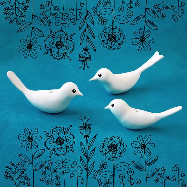 Polymer Clay Birds wip