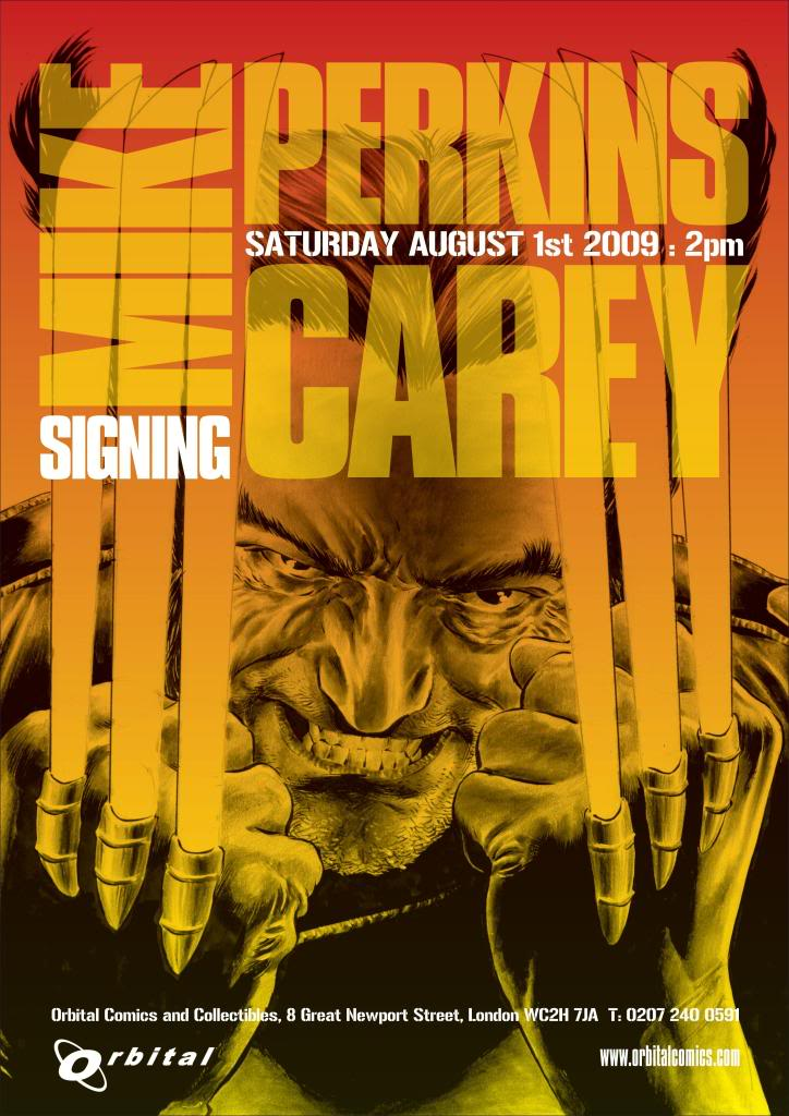 Mike Carey and Mike Perkins Signing Poster