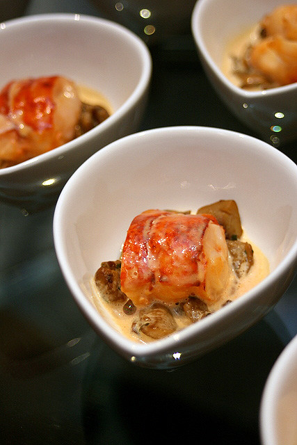 Maine Lobster in Shao Xing Wine, with Sauteed Ceps