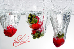 Explored #3 ...... Get Refreshed ..   (Aiman Turkistani .. Vancouver) Tags: red water speed high strawberry nikon splash ayman d300 aiman          turkistani