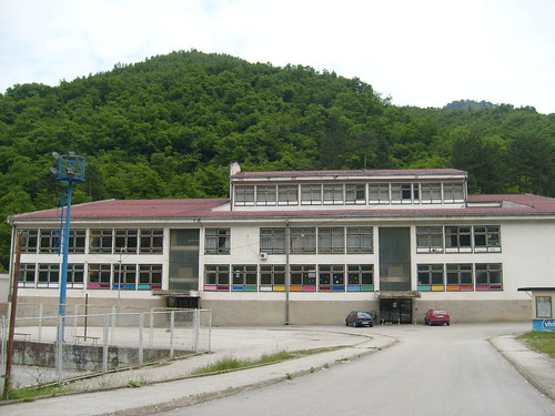 The Srebrenica primary school, where Beba used to be the principal and a math teacher before she was expelled
