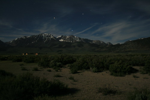 Sierra Nevadas Under Moonlight