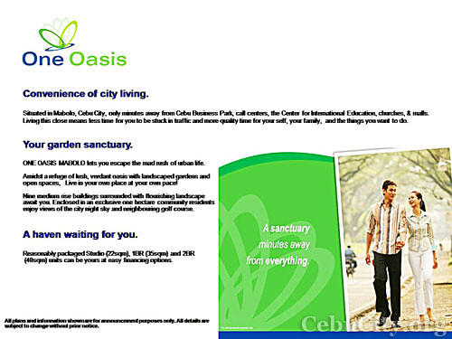 Cebu City One Oasis Filinvest