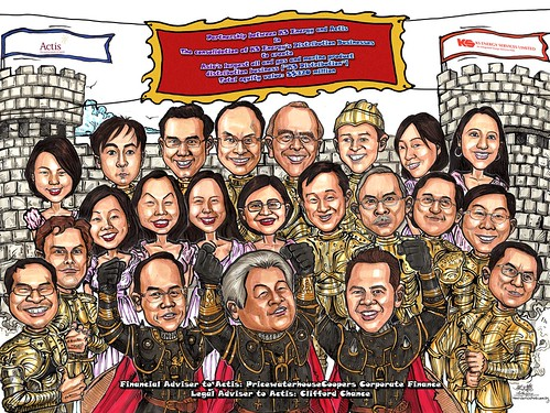 Group caricatures for Pricewaterhouse Coopers A3 edited repositioned
