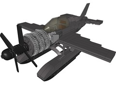D4BUltraSeaDragon006 (Dragonov Brick Works) Tags: lego aircraft studless miniscale