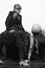 L'Absurde Sance (13) - Sexy International Paris Film Festival #2 - 24-27Jun10, Paris (France) (]) Tags: 2 portrait blackandwhite bw woman man paris sexy film girl leather festival fetish movie mask noiretblanc theatre stage femme domination ds vinyl documentary sm bondage bdsm nb international latex latina nouveau mistress homme masque domina cinma fetishism sance sadism masochism subdued cuir documentaire scne absurde maitresse ftichisme masochisme soumis sadisme nouveaulatina absurdesance sexyinternationalparisfilmfestival sexyinternationalparisfilmfestival2