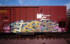T C I (TRUE 2 DEATH) Tags: railroad streetart art train graffiti tag graf traintracks rusty trains bn railcar rusted weathered spraypaint boxcar railways railfan freight herald reefer isto tci freighttrain rollingstock wfe burlingtonnorthern scrapped westernfruitexpress benching freighttraingraffiti bnfe bnfe11932