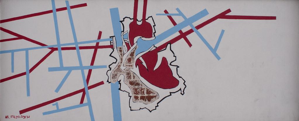 Patriotyczny mural - krwioobieg miasta