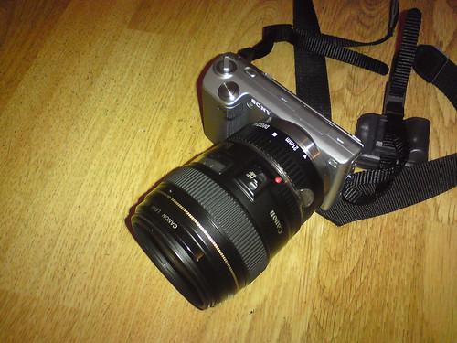 sony nex canon ef lens adapter