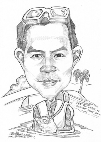 Caricature for DHL - diver