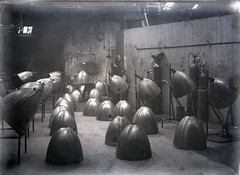 Ninety gallon drop tank noses 1944 (P&KC Archive) Tags: industry advertising scotland war engineering perth ww2 aeroplanes 20c manufacturing ecsochistory historicaldocument workingarchive