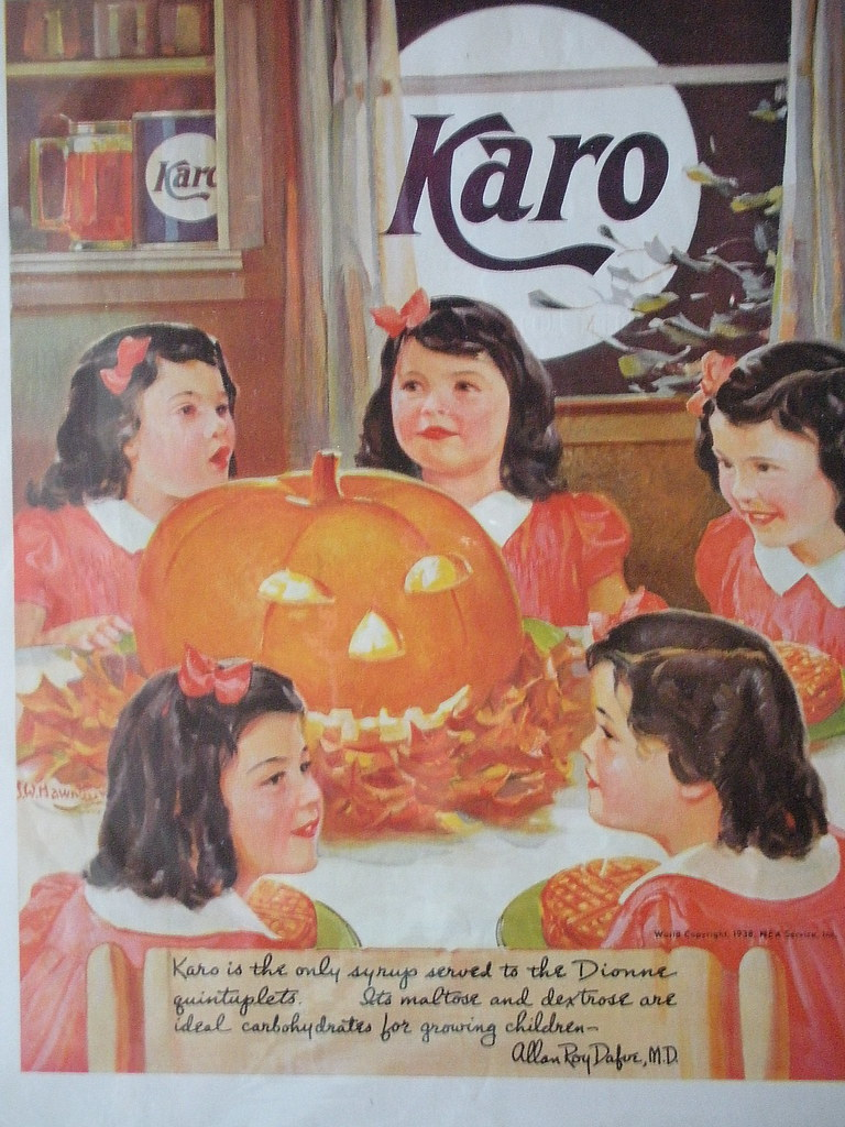 1938 Dionne Quintuplets Syrup Ad