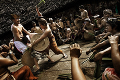 Tenganan Pegeringsingan village, Bali - Mekare-Kare (Ritual Fight) Part 1 of 4 (Mio Cade) Tags: boy bali man male men leaves temple kid fight hurt village child weapon whip ritual shield bleed pura kare tenganan perangpandan mekare pegeringsingan pandanous
