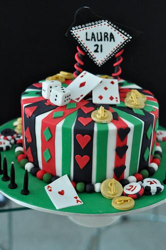 Las Vegas 21st cake