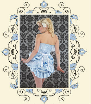 Alice corset and bustle by Lulu and Lush, back view