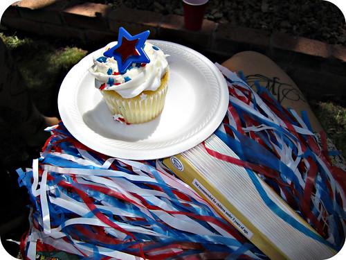 patriotic cupcake!
