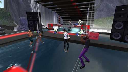red zone club party in second life