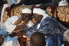Sheex Tiijaan Ñas (Cheikh Tidiane Niass) and Baaba Lamin Ñas (Baba Lamine Niass) at the Gàmmu Tayba (Gamou Taïba Niassène)