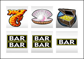 free Atlantis slot game symbols