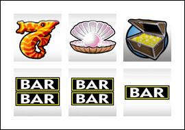 free Atlantis slot game symbols