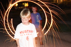 Sparklers and Boys