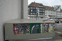 Collabo-Combo (kleines a - creature ink.) Tags: streetart sticker dortmund aufkleber combo collabo postaufkleber ruhr2010