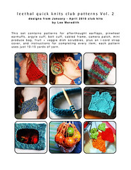 leethal quick knits patterns vol. 2!