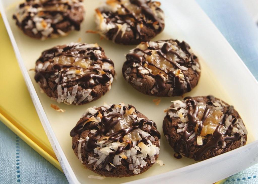 Chocolate-Coconut Thumbprint Cookies Recipe
