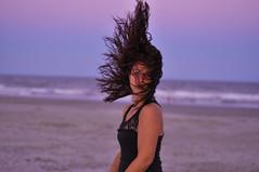 undecided (129/365) (alexandria lomanno) Tags: beach colors girl alexandria hair nikon vibrant flip goodnight d90 lomanno