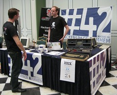 The Hack42 stand at HitBSecConf2010