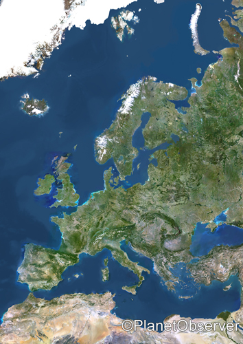 Europe - Satellite image - PlanetObserver